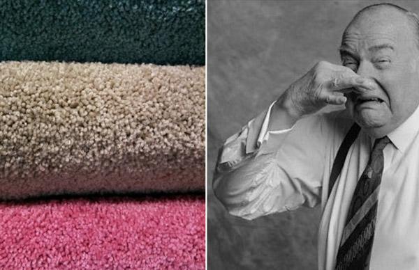 از بین بردن بوی نم فرش